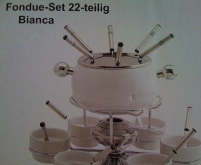 fondue bianca white 22 dílů