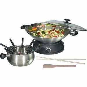 fondue sestava s wokem Clatronic