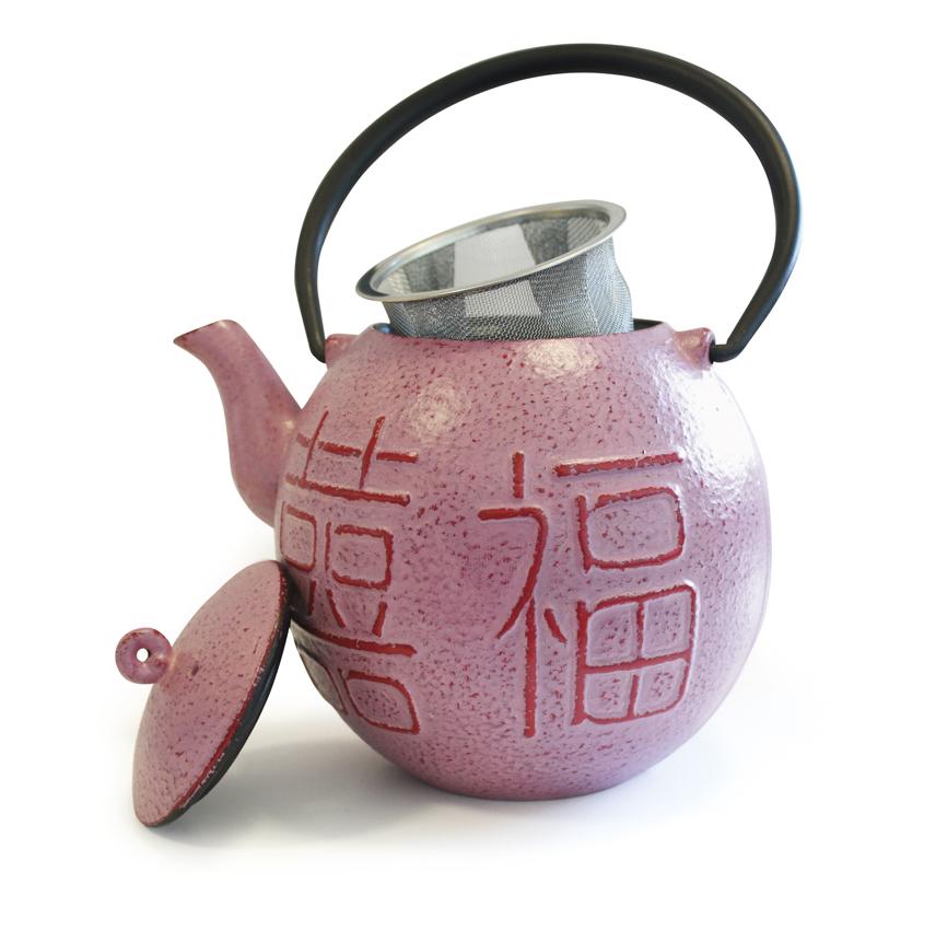 litinová konvice Beka Fu Cha Pink 0,9l i na indukci