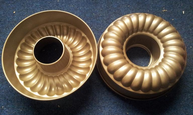 profesionální kovová forma na bábovku XXL titanium silver 27 cm