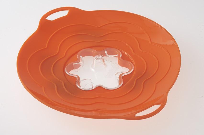 silikonová poklice proti vzkypění Vapo Twist Silikomart orange