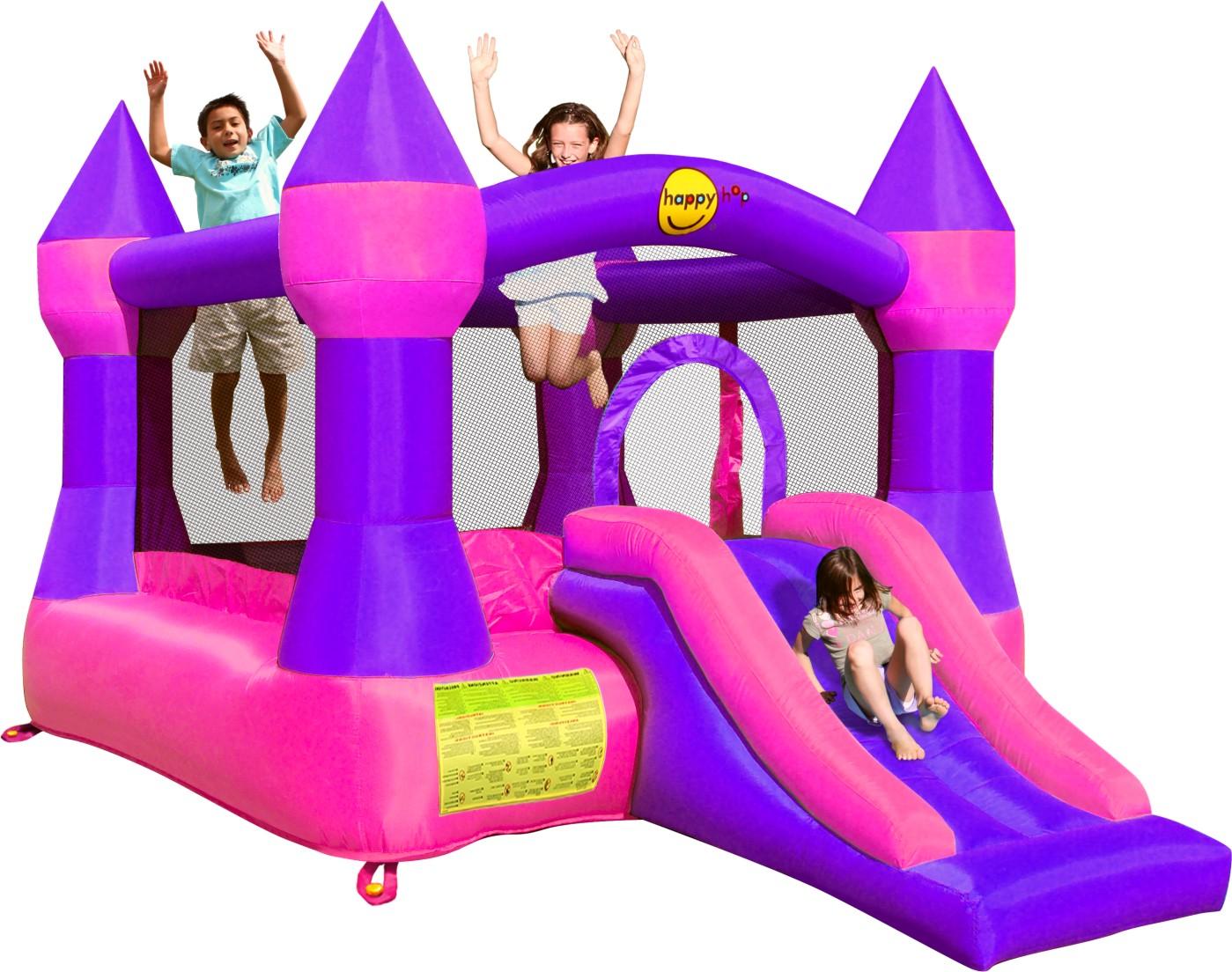 skákací hrad - fialový zámek se skluzavkou 9,67 m2