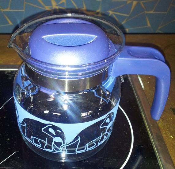 skleněná konvice na čaj SIMAX modrá 1,0 l AKCE