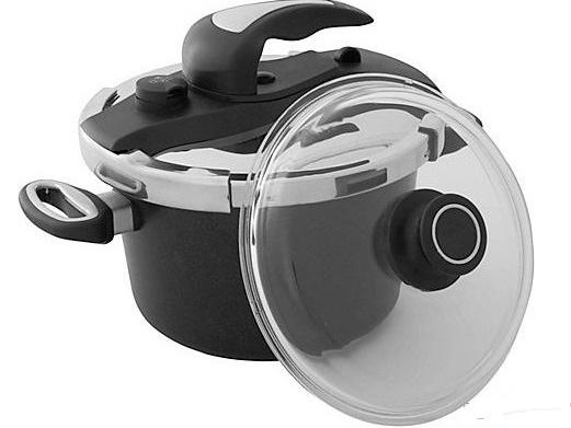 harecker titanový tlakový hrnec + poklice 24 cm 6 litrů
