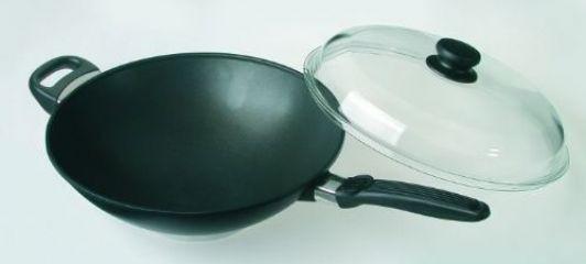 wok titan skk 32 cm s poklicí pyrex